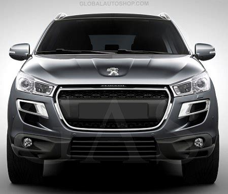 peugeot 4008 accessories peugeot 4008 chrome grill custom grille grill inserts