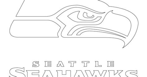 seattle seahawks logo coloring page supercoloring com