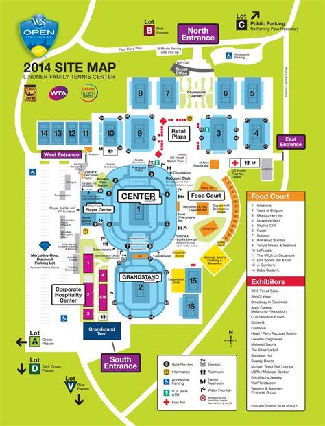 us open tennis map site map cincinnati