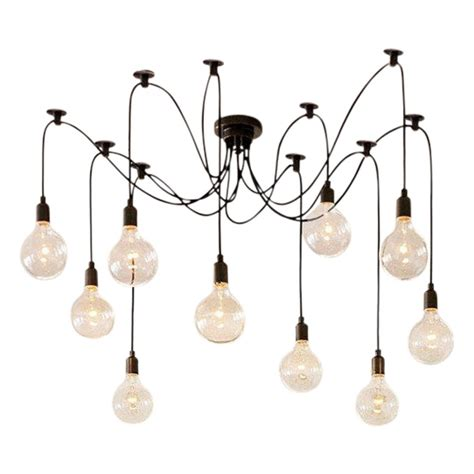 chandelier pendant light edison spider l in black modern chandelier cult uk
