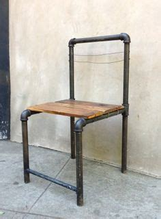 barn rustic  galvanized pipe dining chair