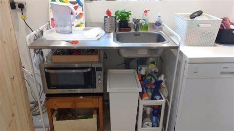 ikea sunnersta mini kitchen sink unit  easton bristol