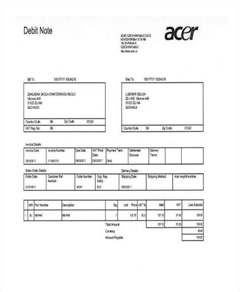 debit note images download cv letter and format sle