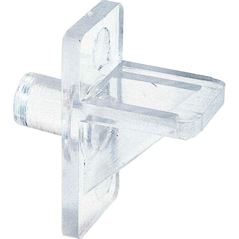 prime line 5 lb 1 4 in clear plastic shelf support pegs