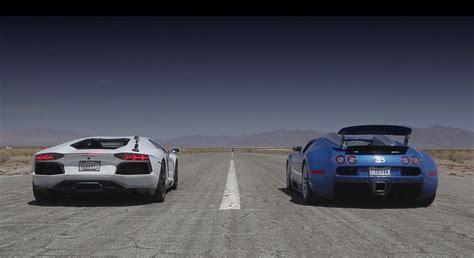 Race Between And Lamborghini Bugatti Veyron Grand Sport Vs Lamborghini Aventador Drag