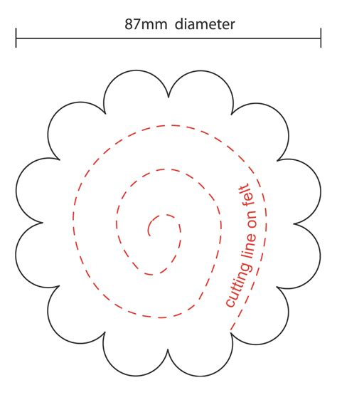 felt flower template beautiful felt flower template contemporary resume ideas