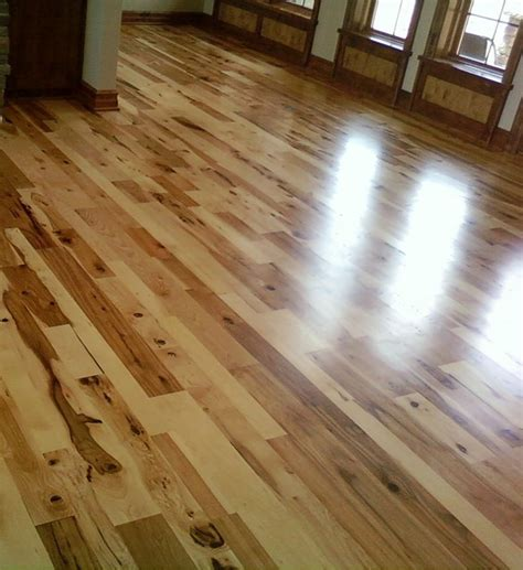 hickory wood flooring rustic living room other by woodstock flooring design center