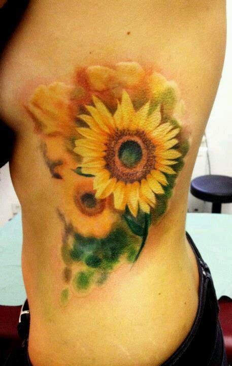 watercolor tattoo utrecht best 25 watercolor sunflower ideas on