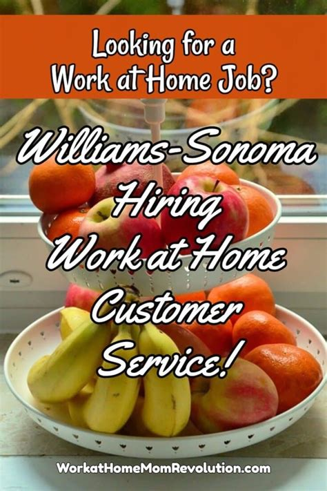 williams sonoma hiring work at home agents in oklahoma