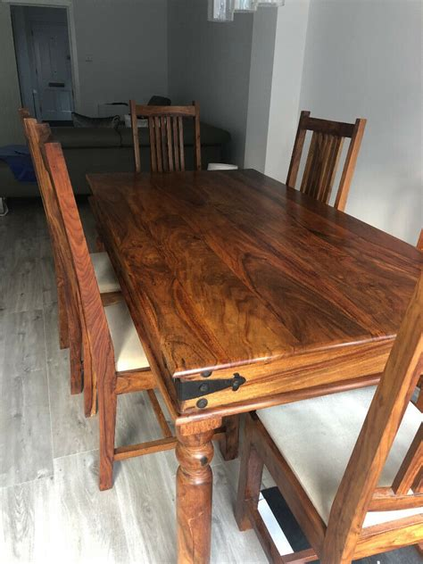 john lewis range  seater dining room table  chairs