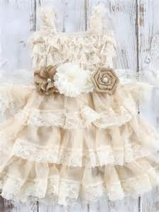 country wedding flower dresses burlap and lace flower dress country chic dress