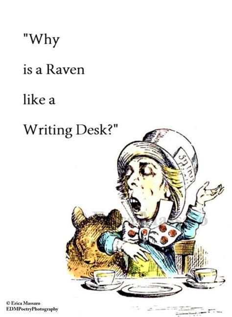 raven like a writing desk why is a raven like a writing desk alice in wonderland