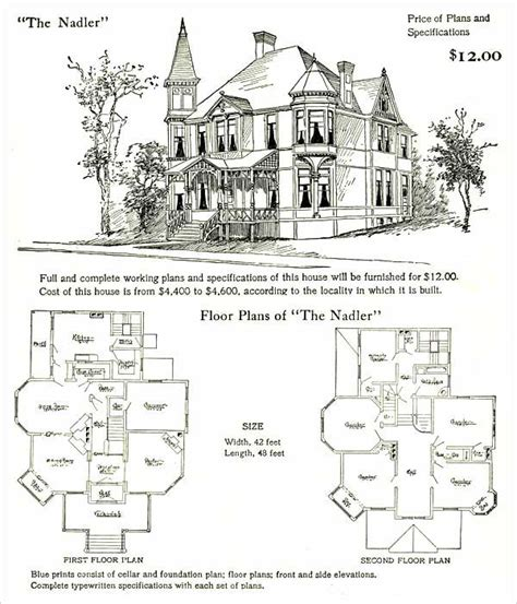 queen anne house plans 1905 hodgson nadler landscape victorian ladies pinterest queen anne house