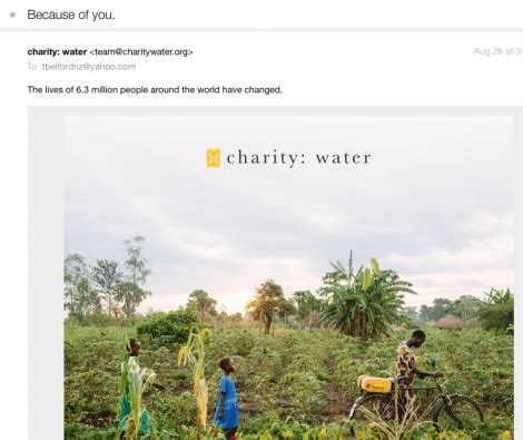 charity water thank you letter charity water thank you letter best free home design