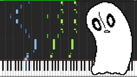 tutorial piano ghost ghost fight undertale piano tutorial synthesia
