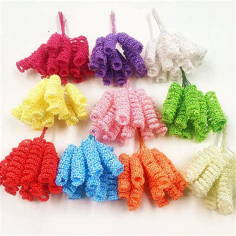 how to make fake bubbles for decoration 12 pcs 10 cm beam artificial flower bouquets of elastic roll wedding decoration