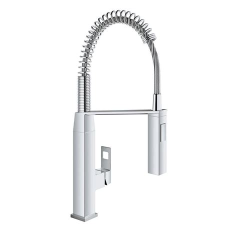 GROHE Eurocube Single Handle Pull Down Sprayer Kitchen Faucet in StarLight Chrome 31401000   The