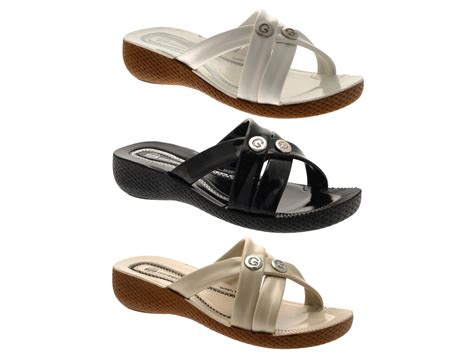 comfortable sandles womens strappy low wedge comfort sandals ladies summer