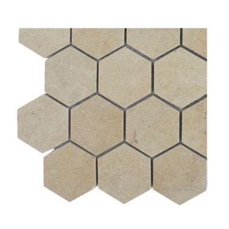 splashback tile jer gold hexagon polished