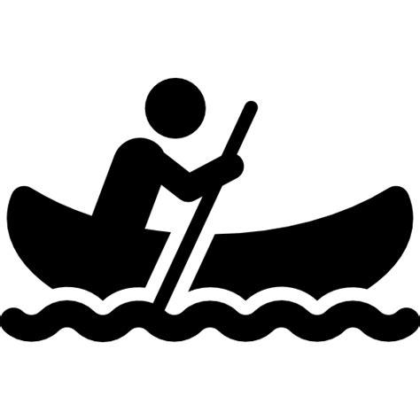 canoe boat logo man in canoe free sports icons