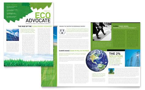 charity newsletter template environmental non profit newsletter template design