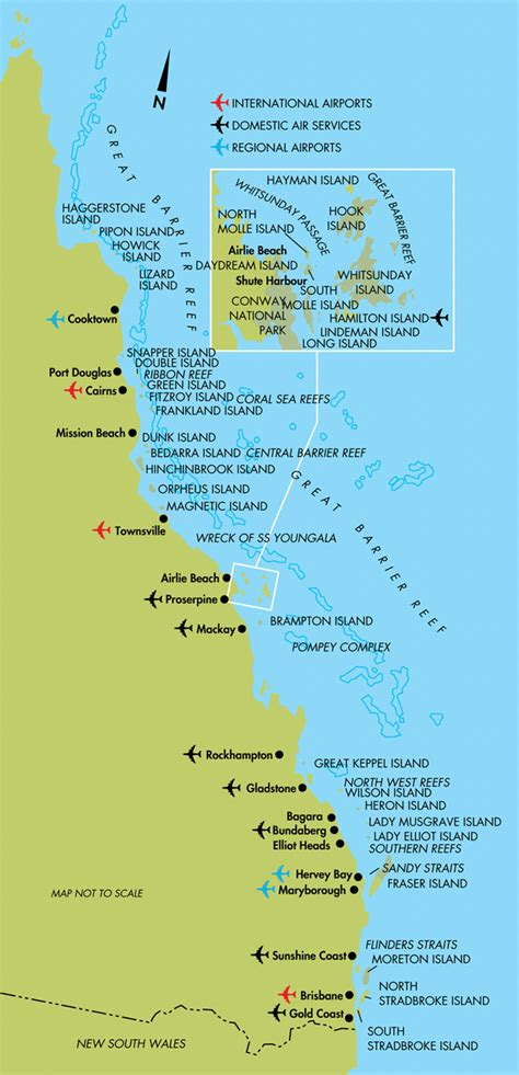 queensland australia map queensland tourism