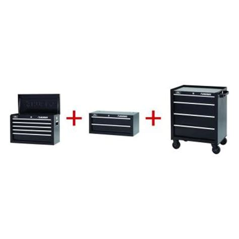 Rent To Own Husky 26 Inch 5 Drawer Tool Chest Textured Black by Husky 26 In 2 Drawer Chest And Cabinet 2603bkcom11thd