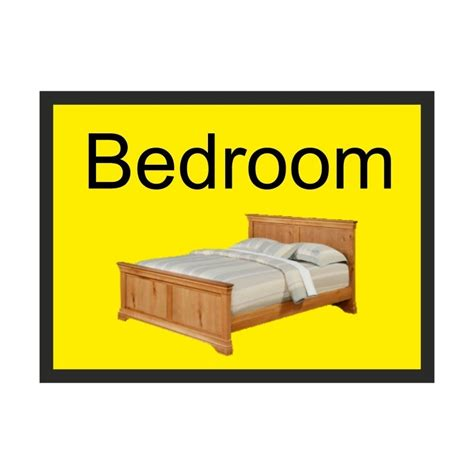 bett 300x200 bedroom dementia sign 300 x 200mm