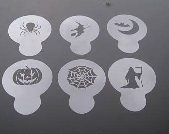 printable halloween stencils for cupcakes cupcake stencil etsy