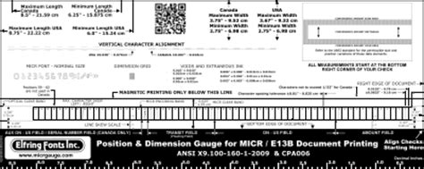 Truetype Micr E13b Plus Signature Fonts For Check Printing Micr Check Template