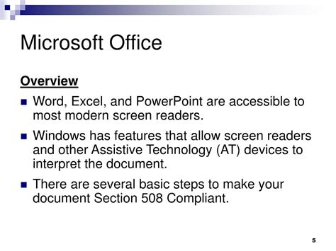 section 508 compliant ppt creating section 508 compliant documents