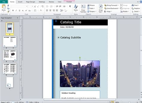 Creating And Publishing Catalogs For Your Business Using Microsoft Publisher Microsoft Publisher Catalog Templates