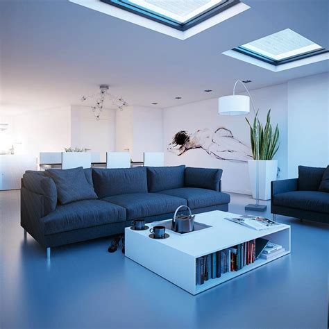 leaving room living rooms with skylights