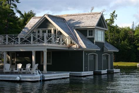 living on a boat in ontario shoreline construction boathouse muskoka lake clear