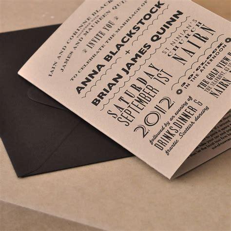 brown wedding invitations kraft brown wedding invitations by e y i