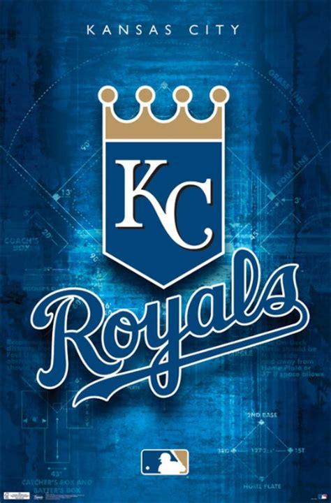 kansas city royals baseball team poster posters licensed mlb team logo art print artwork
