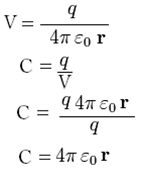 spherical capacitor formula what will be the capacity of an isolated spherical conductor