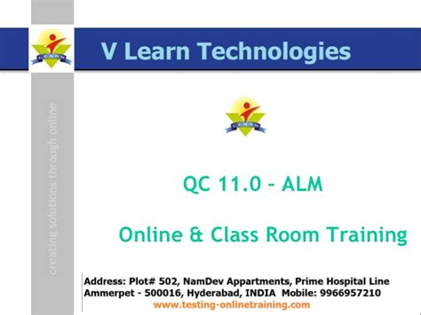 online tutorial for qc online and class room training on qc 11 alm hp bpt hp
