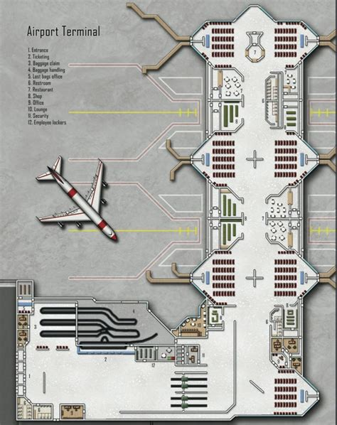 airport terminal floor plans airport terminal shadowrun floorplan shadowrun