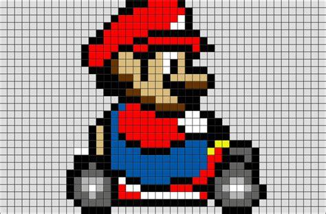 mario kart pixel brik