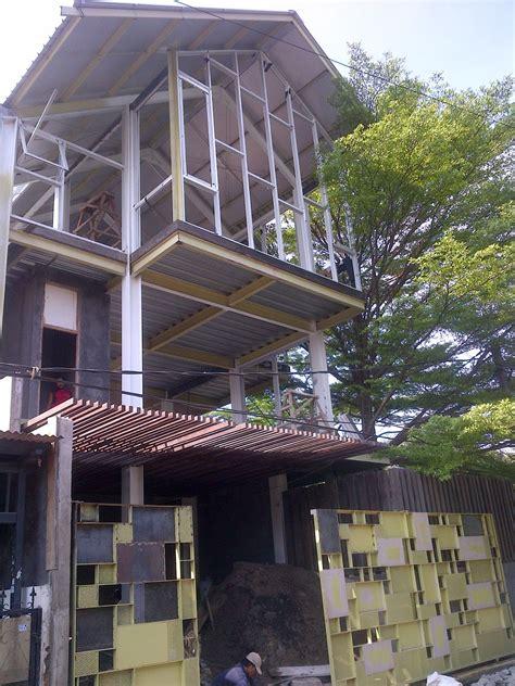 desain rumah rangka baja struktur baja untuk rumah tinggal