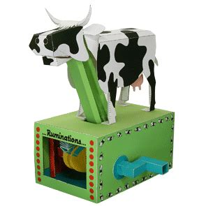 Moving Papercraft - moving cow paper model papercraft