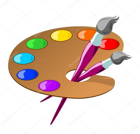 Artists Clipart Paintbrush And Palette Clip Ourclipart
