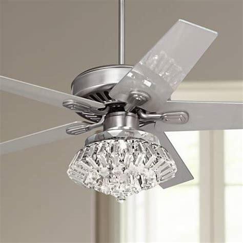bling ceiling fan light kits 52 quot windstar ii steel light kit ceiling fan
