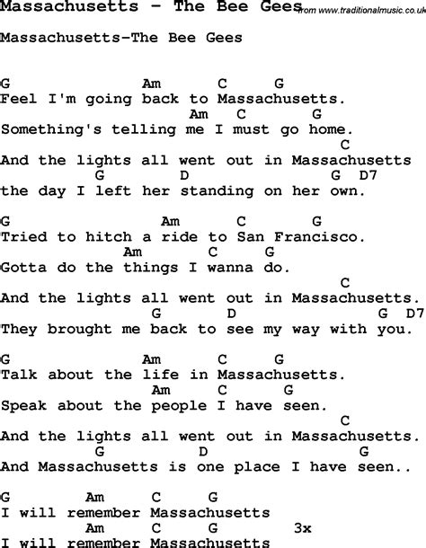 song ukulele chords song massachusetts by the bee gees song lyric for vocal