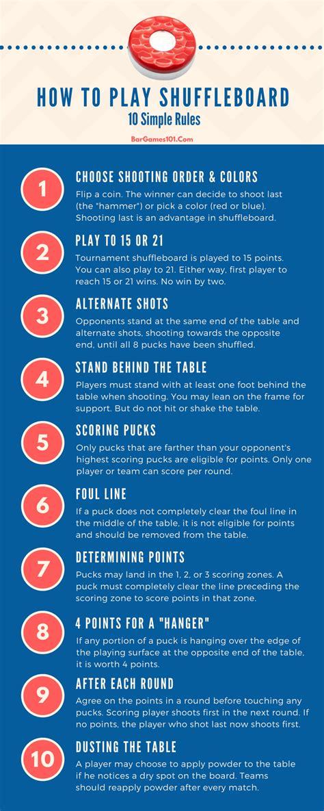 how to play table shuffleboard shuffleboard scoring technique the guide
