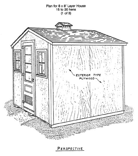 poultry housing plans small chicken house