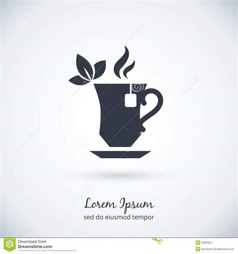 Tea Cup Logo Stock Vector   Image: 50930671