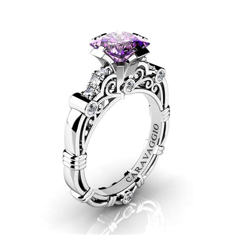 light amethyst engagement rings art masters caravaggio 950 platinum 1 25 ct princess