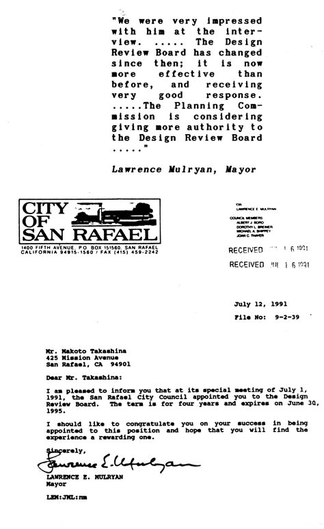 Appointment Letter Architect Publications
